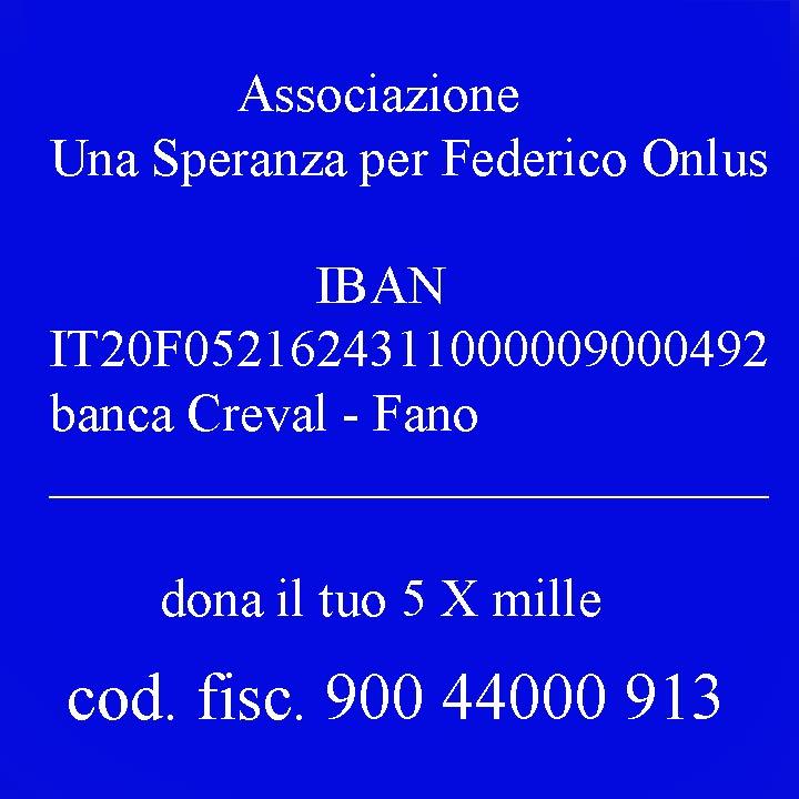Associazione Una Speranza per Federico - dona